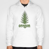 oregon Hoodies featuring Oregon by Julie