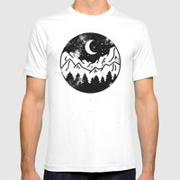 Night Mens Fitted Tee SMALL White
