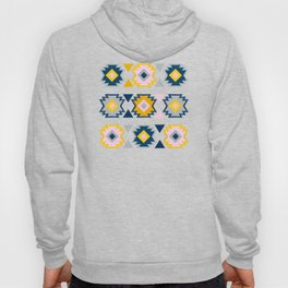Kilim Abundance Pattern - Slate & Marigold Palette Hoody