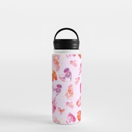 Crayon Hearts Water Bottle