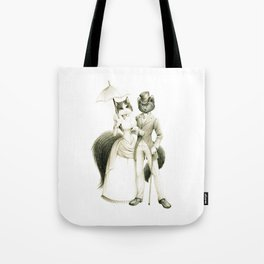 Victorian Cat Series 01 Tote Bag