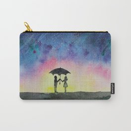 Star rain || watercolor Carry-All Pouch