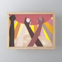 Together We Rise Framed Mini Art Print