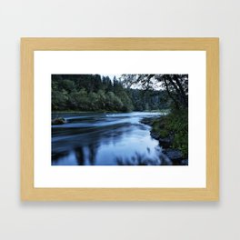 River Blue Framed Art Print