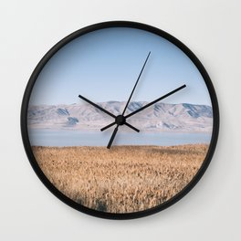 Utah Lake II Wall Clock