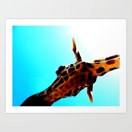 A giraffe named Squirt Art Print
