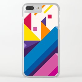 Abstract modern geometric background. Composition 17 Clear iPhone Case