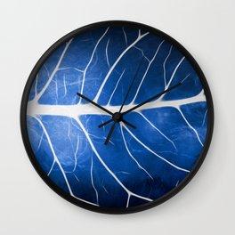 Glowing Grunge Veins Wall Clock