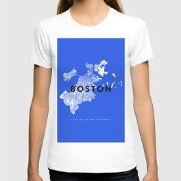 Boston Map T-shirt