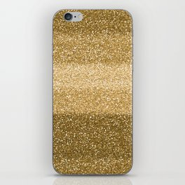 Glitter Glittery Copper Bronze Gold iPhone Skin