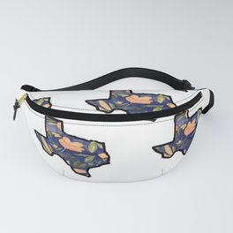 Blue Texas White Background Fanny Pack