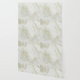 Marble Love Gold Metallic Wallpaper