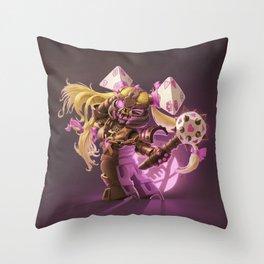 The Nefarious Nega-BlokTrix Throw Pillow