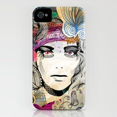 colorful floral girl Slim Case iPhone (4, 4s)