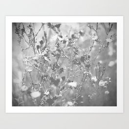Bristles and Flowers Art Print