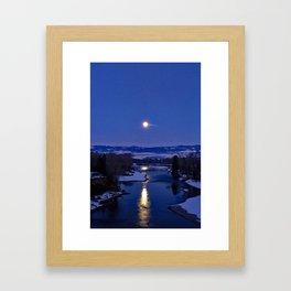 Bitterroot Moon Framed Art Print
