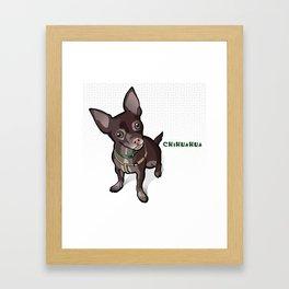 Taco T. Man (Chihuahua) Framed Art Print