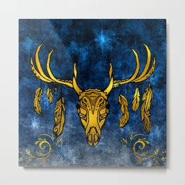 Strange the Dreamer by Lani Taylor—Stag Head Metal Print