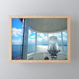 Souris Lighthouse View from the Top Framed Mini Art Print