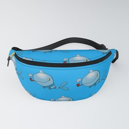 Whale with a pipe Fanny Pack
