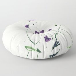 Roseate Jewels No.12g by Kathy Morton Stanion Floor Pillow