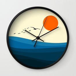 Royal blue ocean Wall Clock