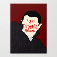 dracula Canvas Prints featuring Dracula by Swell Dame