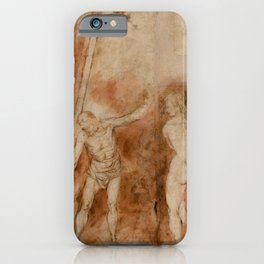 Alonso Cano - Christ in Limbo (1652) iPhone Case