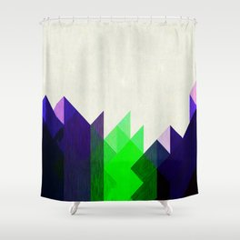 Green Peaks Shower Curtain