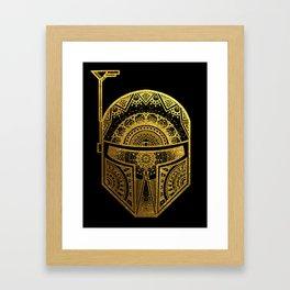 Mandala BobaFett - Gold Foil Framed Art Print