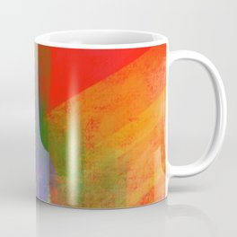 Folie abstraite-wild abstract-carré rouge Coffee Mug