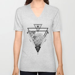 Wiccan Water Element Symbol Pagan Witchcraft Triangle Unisex V-Neck