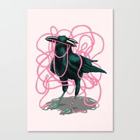 crow Canvas Prints featuring Crow by Devin McGrath