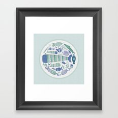 Little Fishes Framed Art Print