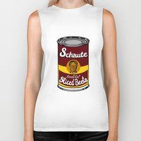 dwight schrute Biker Tanks featuring Schrute Fresh Cut Sliced Beets  |  Dwight Schrute  |  The Office by Silvio Ledbetter