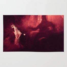 Afraid of the Shadows Godzilla action figure photograph Rug
