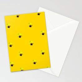 YELLOW  PANSY FLOWERS SPRINKLES GOLDEN YELLOW Stationery Cards