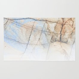 Cotton Latte Marble - Ombre blue and ivory Rug