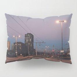 Sunset railway town Pillow Sham