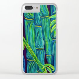 ʻOhe Polū - Blue Bamboo Clear iPhone Case