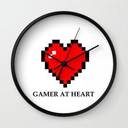 Gamer at heart Wall Clock