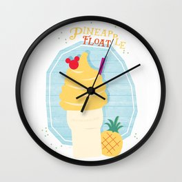 Pineapple Float (Dole Whip) Wall Clock