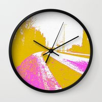 road Wall Clocks featuring Road by Mr and Mrs Quirynen