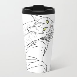 Everything I know I learned from my cat Metal Travel Mug