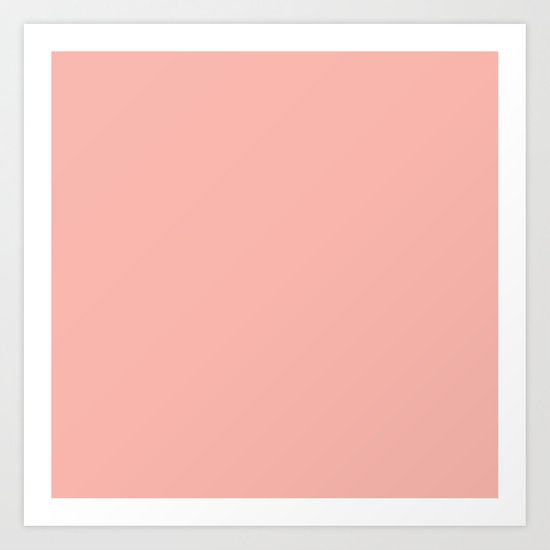 SOLID CORAL/PEACH Art Print