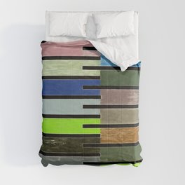 Ladder Color Blocks Complimenting Coral Comforters
