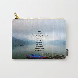 Serenity Prayer With Phewa Lake Panoramic View Carry-All Pouch