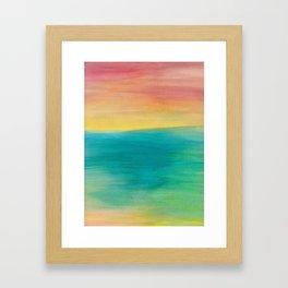 Ocean Sunset Series, 3 Framed Art Print