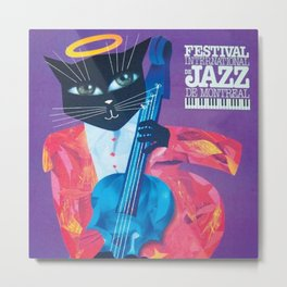 1994 Montreal Jazz Festival Cool Cat Poster No. 1 Gig Advertisement Metal Print