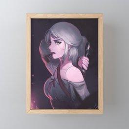 Ciri from The Witcher Framed Mini Art Print